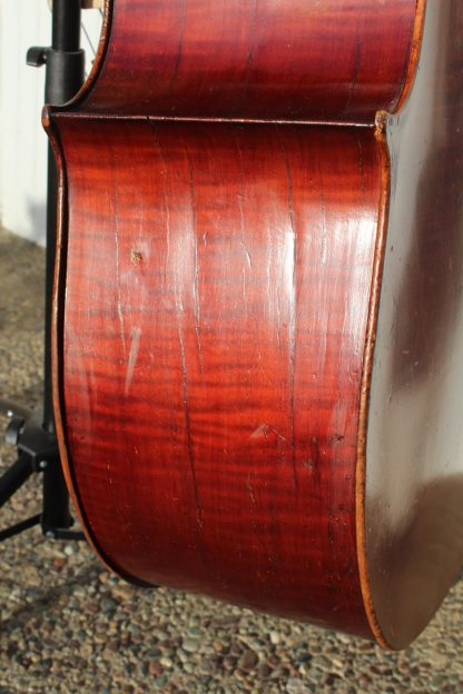 ca. 1880 Italian large 3/4 carved back