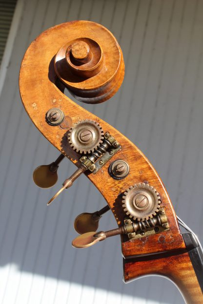 1920s German 7/8 violin corner carved back